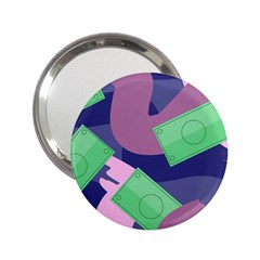 Money Dollar Green Purple Pink 2 25  Handbag Mirrors by Alisyart