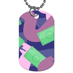 Money Dollar Green Purple Pink Dog Tag (two Sides) by Alisyart