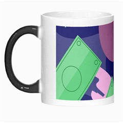 Money Dollar Green Purple Pink Morph Mugs by Alisyart
