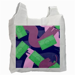 Money Dollar Green Purple Pink Recycle Bag (one Side) by Alisyart
