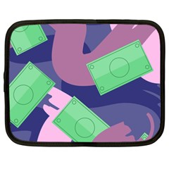 Money Dollar Green Purple Pink Netbook Case (xxl)