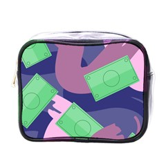 Money Dollar Green Purple Pink Mini Toiletries Bags by Alisyart