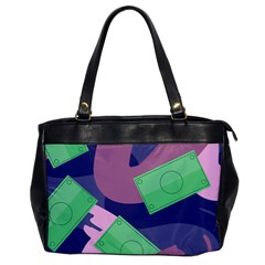 Money Dollar Green Purple Pink Office Handbags
