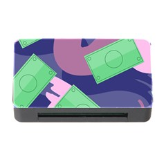 Money Dollar Green Purple Pink Memory Card Reader With Cf by Alisyart