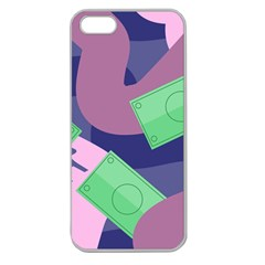 Money Dollar Green Purple Pink Apple Seamless Iphone 5 Case (clear) by Alisyart