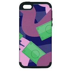 Money Dollar Green Purple Pink Apple Iphone 5 Hardshell Case (pc+silicone) by Alisyart