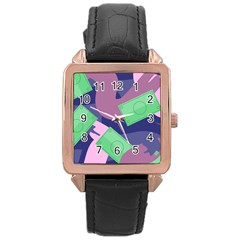 Money Dollar Green Purple Pink Rose Gold Leather Watch  by Alisyart