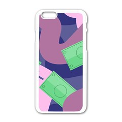 Money Dollar Green Purple Pink Apple Iphone 6/6s White Enamel Case by Alisyart