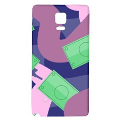 Money Dollar Green Purple Pink Galaxy Note 4 Back Case by Alisyart
