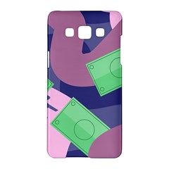 Money Dollar Green Purple Pink Samsung Galaxy A5 Hardshell Case  by Alisyart