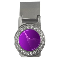 Purple Line Money Clips (cz)  by Alisyart