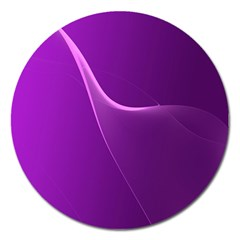Purple Line Magnet 5  (round) by Alisyart