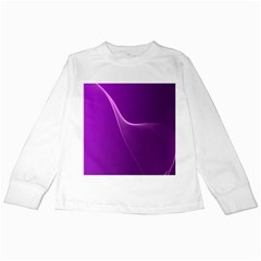 Purple Line Kids Long Sleeve T-shirts by Alisyart