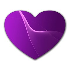 Purple Line Heart Mousepads by Alisyart