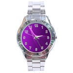 Purple Line Stainless Steel Analogue Watch Front