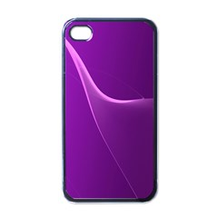 Purple Line Apple Iphone 4 Case (black) by Alisyart