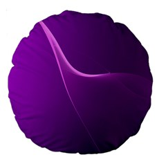 Purple Line Large 18  Premium Round Cushions