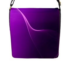 Purple Line Flap Messenger Bag (l)  by Alisyart