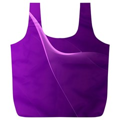 Purple Line Full Print Recycle Bags (l)  by Alisyart