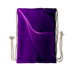 Purple Line Drawstring Bag (small) by Alisyart