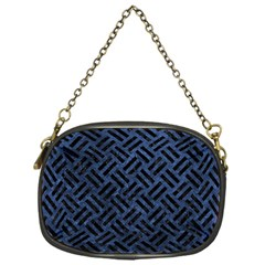 Woven2 Black Marble & Blue Stone (r) Chain Purse (one Side) by trendistuff