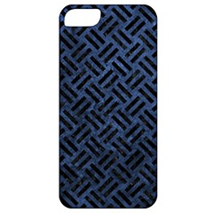 Woven2 Black Marble & Blue Stone (r) Apple Iphone 5 Classic Hardshell Case by trendistuff