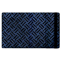 Woven2 Black Marble & Blue Stone (r) Apple Ipad 2 Flip Case by trendistuff