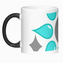 Moon Water Star Grey Blue Morph Mugs by Alisyart