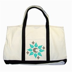 Moon Water Star Grey Blue Two Tone Tote Bag by Alisyart