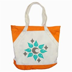 Moon Water Star Grey Blue Accent Tote Bag by Alisyart