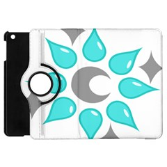 Moon Water Star Grey Blue Apple Ipad Mini Flip 360 Case by Alisyart