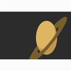 Saturn Ring Planet Space Orange Canvas 24  X 36