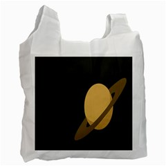 Saturn Ring Planet Space Orange Recycle Bag (two Side)  by Alisyart