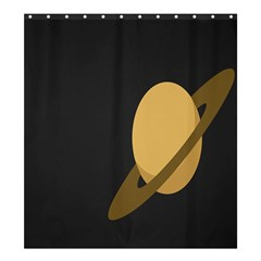 Saturn Ring Planet Space Orange Shower Curtain 66  X 72  (large)  by Alisyart