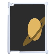 Saturn Ring Planet Space Orange Apple Ipad 2 Case (white) by Alisyart