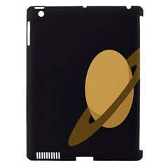 Saturn Ring Planet Space Orange Apple Ipad 3/4 Hardshell Case (compatible With Smart Cover) by Alisyart