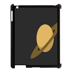 Saturn Ring Planet Space Orange Apple Ipad 3/4 Case (black)