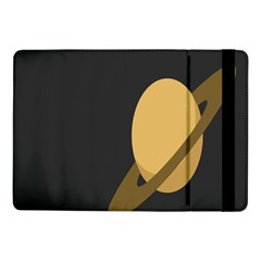 Saturn Ring Planet Space Orange Samsung Galaxy Tab Pro 10 1  Flip Case by Alisyart