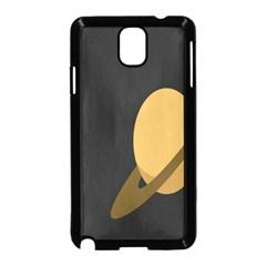 Saturn Ring Planet Space Orange Samsung Galaxy Note 3 Neo Hardshell Case (black) by Alisyart