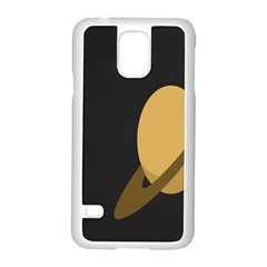 Saturn Ring Planet Space Orange Samsung Galaxy S5 Case (white)