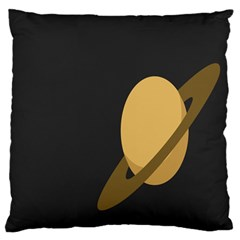 Saturn Ring Planet Space Orange Standard Flano Cushion Case (one Side) by Alisyart