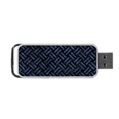 Woven2 Black Marble & Blue Stone Portable Usb Flash (two Sides) by trendistuff