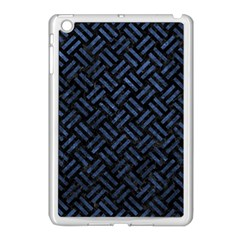 Woven2 Black Marble & Blue Stone Apple Ipad Mini Case (white) by trendistuff