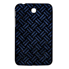 Woven2 Black Marble & Blue Stone Samsung Galaxy Tab 3 (7 ) P3200 Hardshell Case  by trendistuff