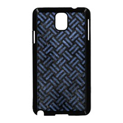 Woven2 Black Marble & Blue Stone Samsung Galaxy Note 3 Neo Hardshell Case (black) by trendistuff