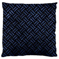 Woven2 Black Marble & Blue Stone Standard Flano Cushion Case (two Sides) by trendistuff