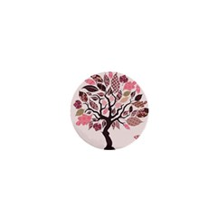 Tree Butterfly Insect Leaf Pink 1  Mini Buttons