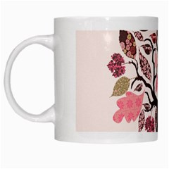 Tree Butterfly Insect Leaf Pink White Mugs
