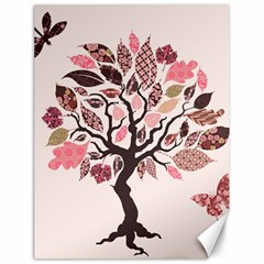 Tree Butterfly Insect Leaf Pink Canvas 18  X 24