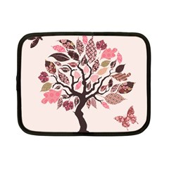 Tree Butterfly Insect Leaf Pink Netbook Case (small)  by Alisyart